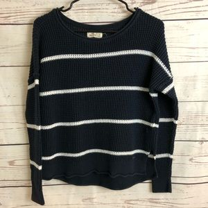 Hollister Navy Blue/White Striped Sweater